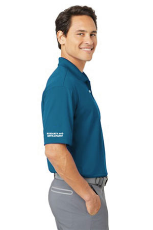 "Action Target - Men's Nike Golf - Dri-FIT Classic Polo. ""Research & Development"" 267020 BLUE"