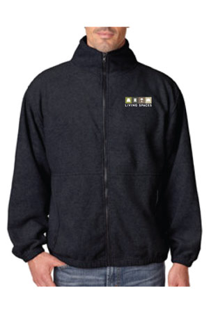 LIVING SPACES MEN'S ICEBERG FLEECE JACKET - 8485 BLACK
