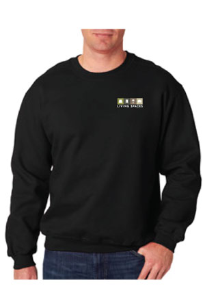 LIVING SPACES CREW SWEATSHIRT BLACK - 9200