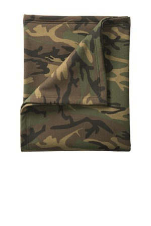 Port & Company® Core Fleece Camo Sweatshirt Blanket. BP78C