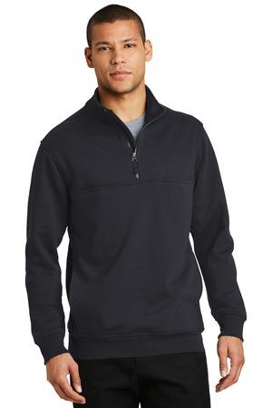 NEW CornerStone® 1/2-Zip Job Shirt. CS626