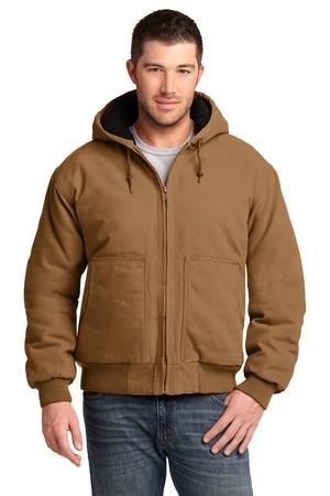 CornerStone® Washed Duck Cloth Insulated Hooded Work Jacket. CSJ41