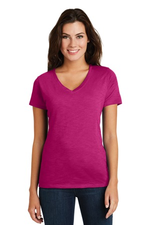 NEW District Made® Ladies Super Slub™ V-Neck Tee. DM3501