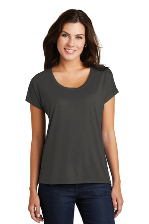 NEW District Made® Ladies Drapey Dolman Tee. DM412