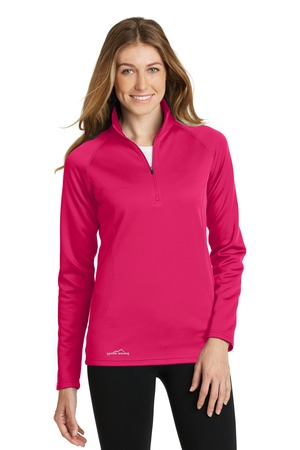 NEW Eddie Bauer® Ladies 1/2-Zip Base Layer Fleece. EB237