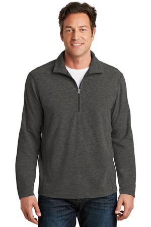 NEW Port Authority® Heather Microfleece 1/2-Zip Pullover. F234