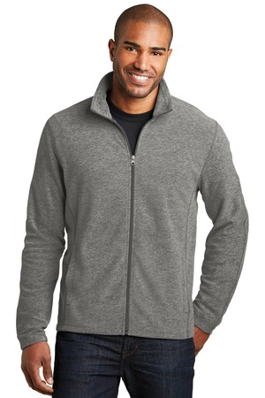 NEW Port Authority® Heather Microfleece Full-Zip Jacket. F235