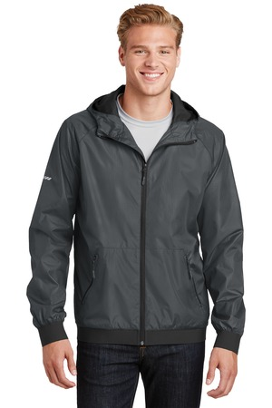 Sport-Tek® Embossed Hooded Wind Jacket. JST53