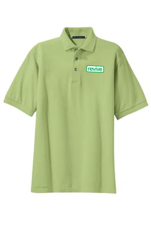 LIVING SPACES MEN'S PISTACHIO POLO - K420