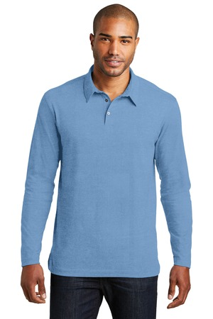 NEW Port Authority® Long Sleeve Meridian Cotton Blend Polo. K577LS