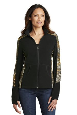 NEW Port Authority® Ladies Camouflage Microfleece Full-Zip Jacket. L230C
