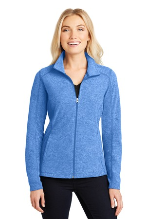 NEW Port Authority® Ladies Heather Microfleece Full-Zip Jacket. L235