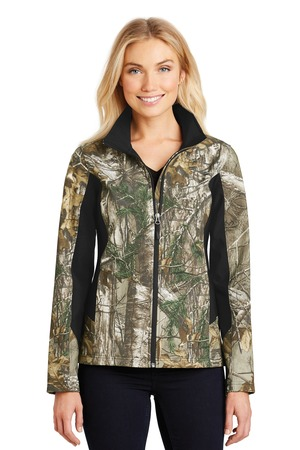 NEW Port Authority® Ladies Camouflage Colorblock Soft Shell. L318C