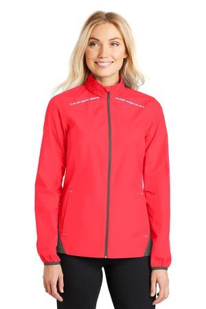 NEW Port Authority® Ladies Zephyr Reflective Hit Full-Zip Jacket. L345