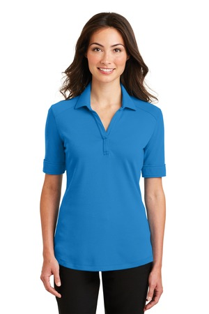 NEW Port Authority® Ladies Silk Touch™ Interlock Performance Polo. L5200