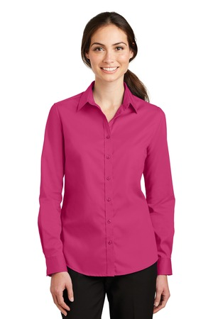 NEW Port Authority® Ladies SuperPro™ Twill Shirt. L663