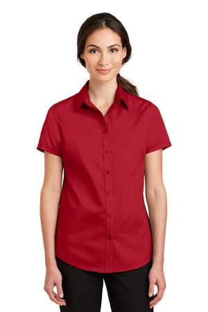 NEW Port Authority® Ladies Short Sleeve SuperPro™ Twill Shirt. L664