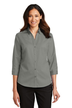 NEW Port Authority® Ladies 3/4-Sleeve SuperPro™ Twill Shirt. L665