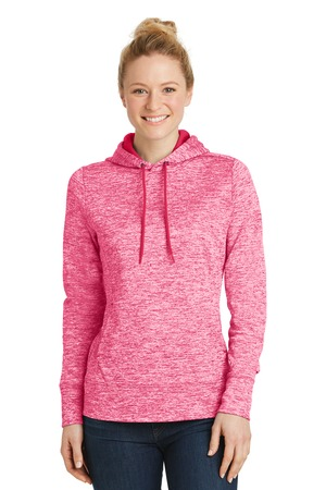NEW Sport-Tek® Ladies PosiCharge® Electric Heather Fleece Hooded Pullover. LST225