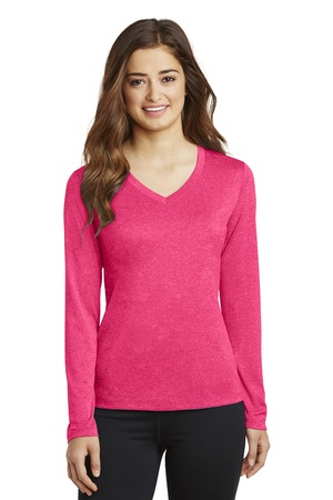 Sport-Tek® Ladies Long Sleeve Heather Contender™ V-Neck Tee. LST360LS