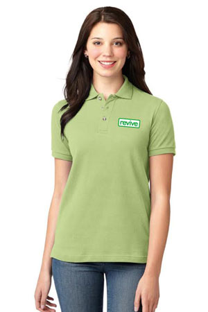 LIVING SPACES WOMEN'S POLO - L420 PISTACHIO