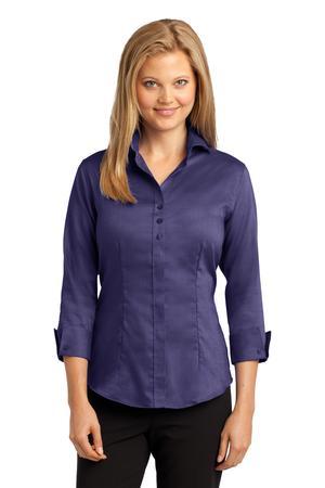 Red House® Ladies 3/4-Sleeve Nailhead Non-Iron Shirt. RH69