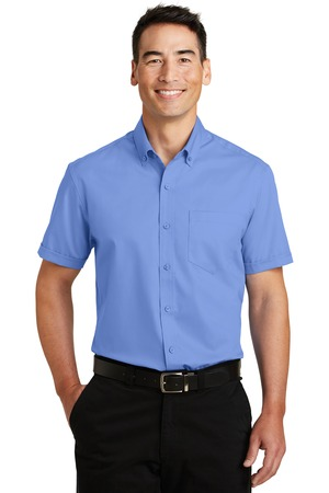 NEW Port Authority® Short Sleeve SuperPro™ Twill Shirt. S664