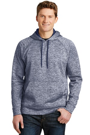 NEW Sport-Tek® PosiCharge® Electric Heather Fleece Hooded Pullover. ST225