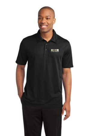 LIVING SPACES MEN'S POLO BLACK - ST690