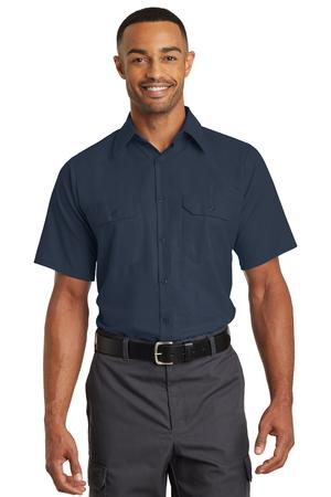 Red Kap® Short Sleeve Solid Ripstop Shirt. SY60