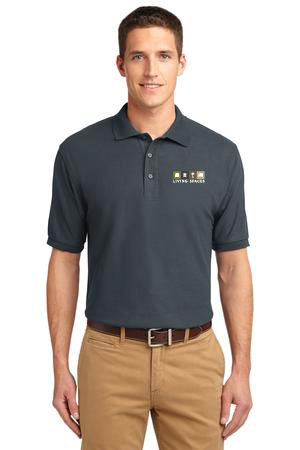 LIVING SPACES MEN'S POLO TALL STEEL GREY - TLK500