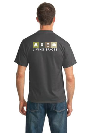 LIVING SPACES CREW T-SHIRT CHARCOAL - PC55