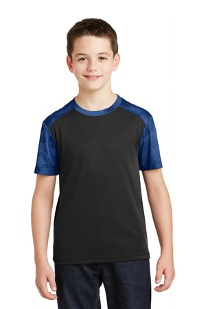 NEW Sport-Tek® Youth CamoHex Colorblock Tee. YST371