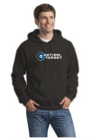 Action Target - Men's Gildan Adult DryBlend Hooded Sweatshirt - 12500 BLACK