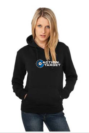 Action Target - Women's Gildan Adult DryBlend Hooded Sweatshirt - 12500 BLACK