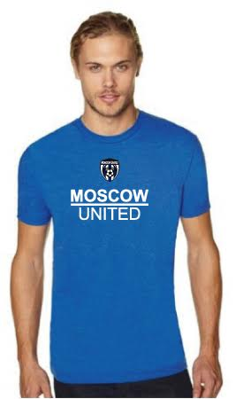 Moscow United Soccer Men's Premium Fitted Crew Tee - N6210
