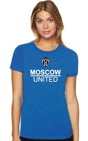 Moscow United Soccer Ladies' Premium Fitted Crew Tee - 6610