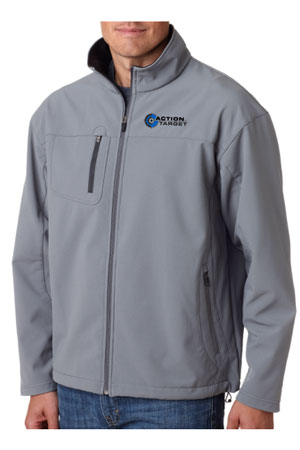 Action Target - Men's Ultra Club Adult Soft Shell Jacket - 8280 MEDIUM GREY