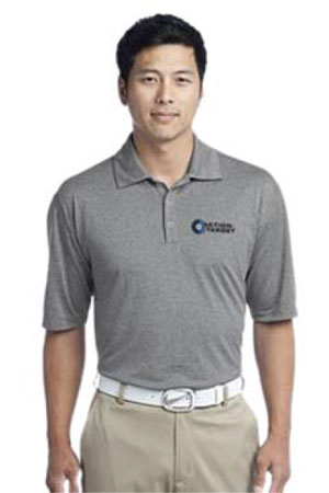 Action Target - Men's Nike Golf Dri-FIT Heather Polo. 474231 CARBON HEATHER