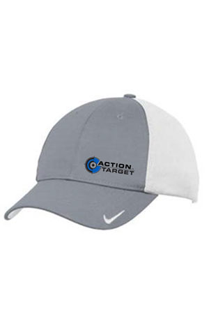 Action Target - Nike Golf Dri-FIT Swoosh Flex Colorblock Cap. 632422 COOLGREY/WHITE