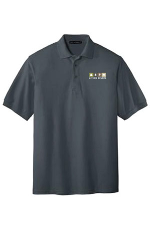 LIVING SPACES MEN'S POLO STEEL GREY - K500
