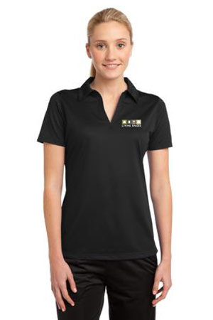 LIVING SPACES WOMEN'S POLO BLACK - LST690